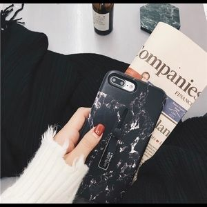 Accessories - Black Marble iPhone X case